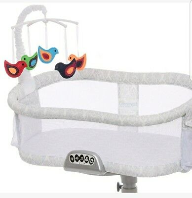 Baby Bassinest Swivel Sleeper Bassinet Mobile Newborn Toy Halo Whimsical Birds