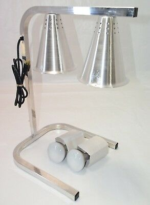Sysco HL7237 Two Bulb Heat Lamp Food Warmer Light Countertop Commercial Carlisle