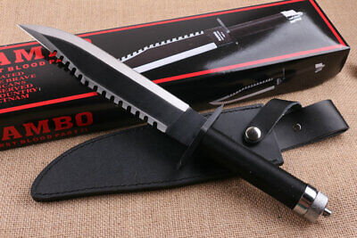 """Sharp Rambo Ii First Blood Signature 16""""  Multi-Function Hunting Survival Knife"""