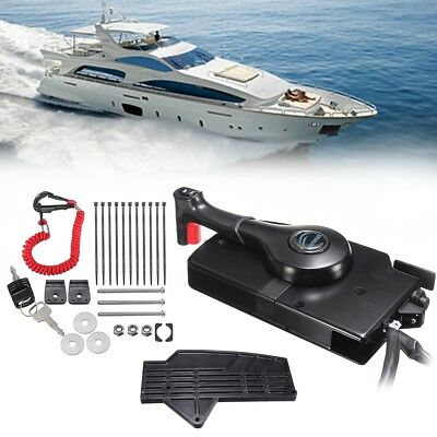 Outboard Engine Remote Control Box Side Mount With 14Pin 16ft Cable For Mercury