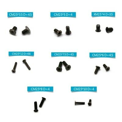 160PCS Laptop Screws M2.5 Black Set Replacement Kit For Sony Dell IBM HP Toshiba