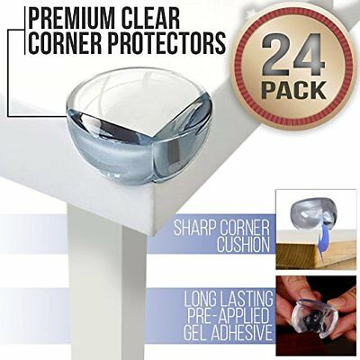 4x 8x 12x Baby Safety Corner Protectors Guards Table Clear Kids 3M Adh UK Seller