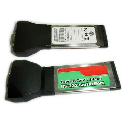 Express Card 34mm to RS232 Serial Port Adapter ExpressCard Laptop Notebook New.