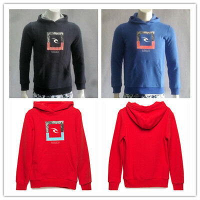 2018 Rip curl Boys Squarehooded Hooded Hoodie Pullover Jumper Tops Size 10-14