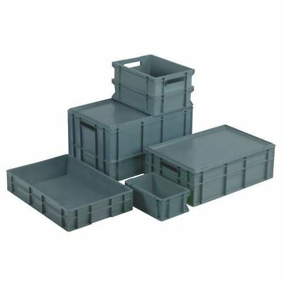 topstore Euro contenedor - LLENOS lateral gris - 600 x 400 x 320mm
