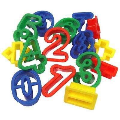 Major Brushes Plastic Dough Cutters Numbers and Symbols Pack of 15