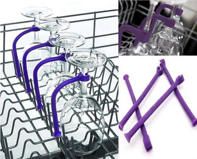 4PCS/SET Stemware Saver Flexible Dishwasher For Wine Glasses Glassware Washing