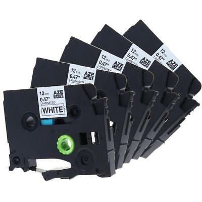 TZ231 TZe-231 Compatible for Brother  P-Touch Label Tape Ribbon 12mm 5 Pack