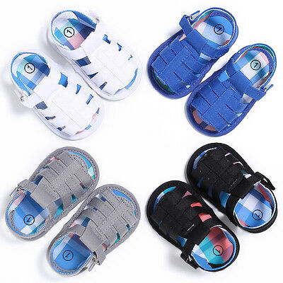 USA Newborn Baby Kids First Walkers Summer Infant Boys Soft Soled Sandals Shoes
