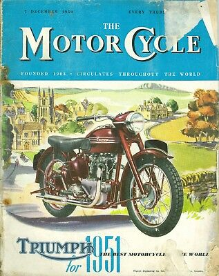 THE M/CYCLE magazine 7/12/50 feat. Royal Enfield Twin, Mead Bikotor, Blacknell