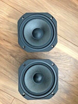 Pair Of Audax Carbon Mid-Woofers