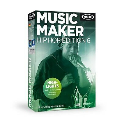 MAGIX Music Maker Hip Hop Edition 6 - NEU & OVP