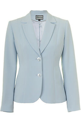 Busy Light Blue Ladies Suit Jacket