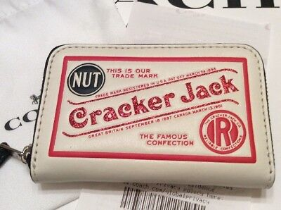 Nwt Coach Small Credit Card Wallet Limited Edition Nostalgia Cracker Jack F26395