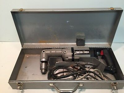 Porter Cable Heavy Duty Right Angle Drill Model 7556 With Case