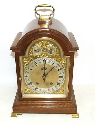 Antique Oak Winterhalder W & H TING TANG Bracket Mantel Clock CLEANED & SERVICED