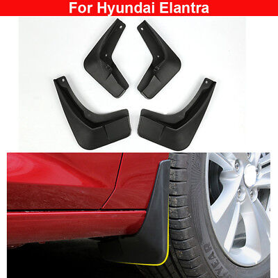 4pcs Plastic Tire Mudguard Splash Guards Mud Flaps For Hyundai Elantra 2012-2017
