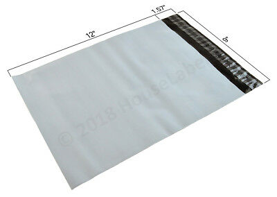 1-2000 9X12 Poly Mailers Bags 2.35 mil thick White Shipping Envelopes