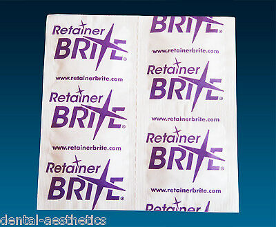 Retainer Brite Sample x 20 or x 40 Tablets, Cleaning Dental Braces Guards Trays