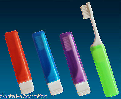 4 x Orthodontic Travel Toothbrush ~ VTrim Bristles for Braces, Set of 4 Colours