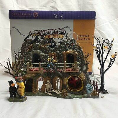 Department 56 Halloween Haunted Fun House Animated Lighted Ceramic   # 55094
