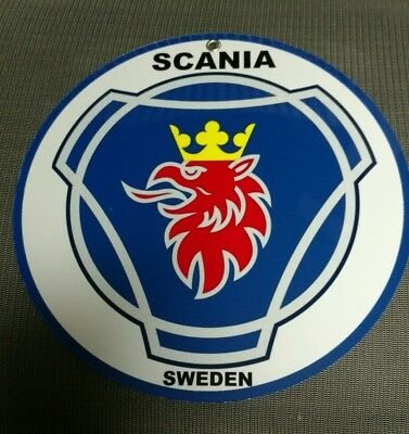Saab Scania Sweden advertising sign