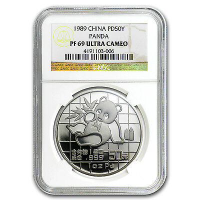 1989 China 1 oz Proof Palladium Panda PF-69 NGC - SKU #88241