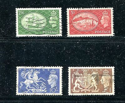 Great Britain 286-89, 1951 King George Vi, Used (Id6103)
