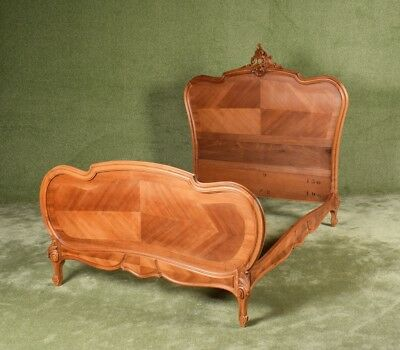 Beautiful Restored French Louis XV Style Walnut Bed