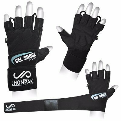 JP GEL Shock Weight Lifting Gym Gloves Body Building Men Training Fitness CA