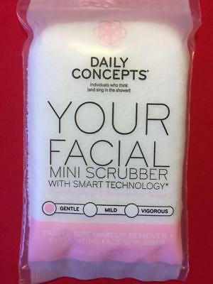 DAILY CONCEPTS Your Facial Mini Micro Scrubber with Smart Technology, Gentle NEW