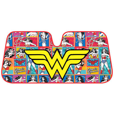 Vintage Wonder Woman Retro Comic Car Auto Sun Shade Windshield Light Blocker