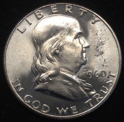 1960 50C Franklin Half Dollar- BU