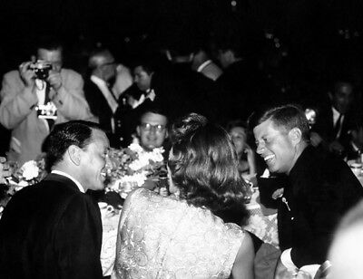 Frank Sinatra, Pat Lawford & John F. Kennedy UNSIGNED photo -L3680- In the 1960s