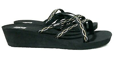 1fb020f1d New Womens 11 Knot Metallic Teva Mush Mandalyn Wedge Ola 2 Sandals Flip  Flops