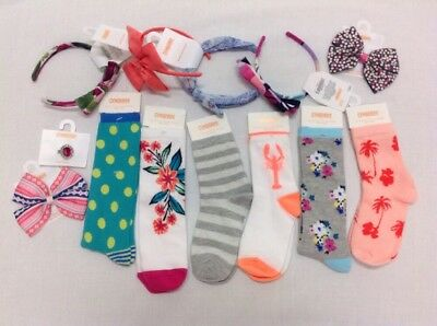 GYMBOREE Girls Hair Accessories & Sock Lot 13 Items Size small NWT