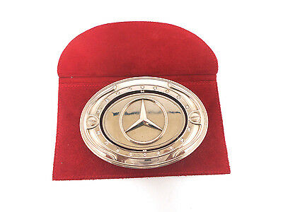 Carrod Brand Mercedes / Cadillac Swivel Belt Buckle with Cartier Leather Pouch