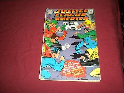 Justice League of America #56 dc 1967 silver age 1.0/fr comic! Lots of JLA up!!!