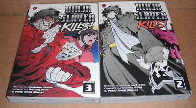 Ninja Slayer Kills Vol. 2,3 Manga Graphic Novels Complete Set English
