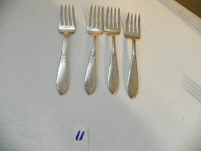 Set Of 4  National Silver Plate Salad Forks King Edward  1936-1951