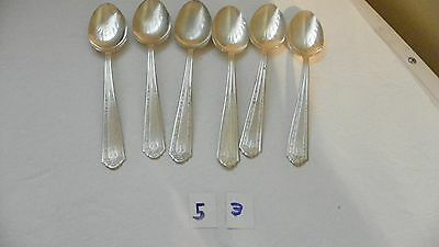 Set Of 6   Majestic   Mjc1   Oval Soup Spoons    Silverplate