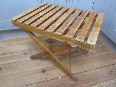 Vintage Folding Luggage Suitcase Rack Low Table Campaign Table