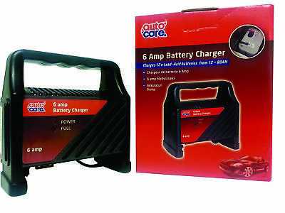 Autocare 6 Amp 12v Battery Charger Suitable For 12 - 80AH Acid Batteries