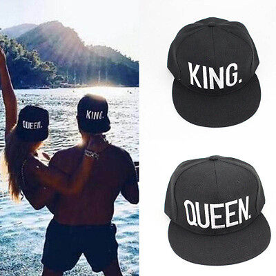 Letter King And Queen Hat Baseball Cap Hats Hip-Hop Lovers Snapback New.