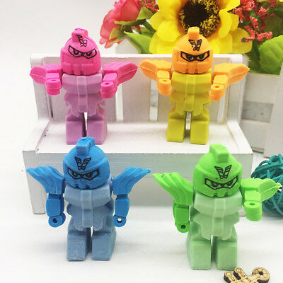 Pencil Robot Cute Eraser Office Removable New Stationery Gift Toy School Rubber