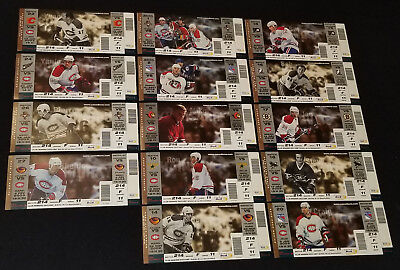 2002/03 - Montreal Canadiens - Nhl - Complete Unused Tickets (14) - Original