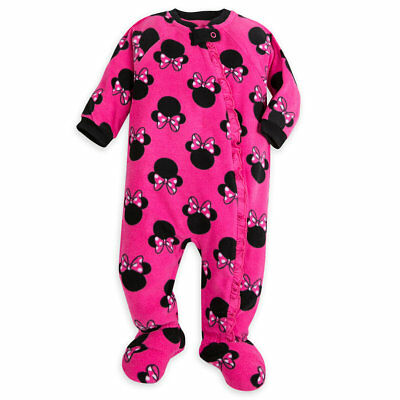 Disney Store Minnie Mouse Baby Sleeper Outfit Size 0 3 6 9 12 18 24 Months New