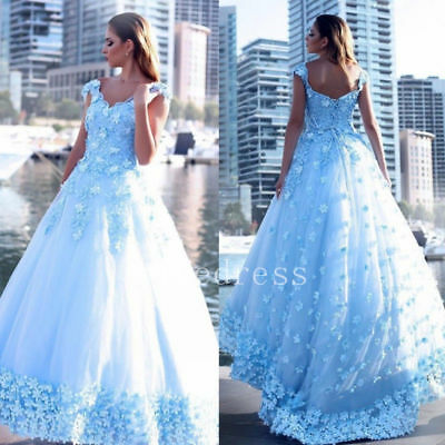 2018 Light Blue Wedding Dresses Bridal Gown Sweetheart Sleeveless Lace Applique