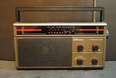 Vintage Sears LXI Series Multi Band Portable Radio Receiver AM/SW/TV1/FM/VHF/TV2
