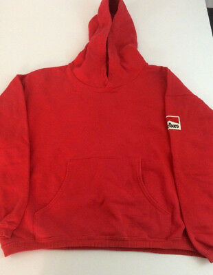 Vintage Marlboro Country Store Men's Small Red Hooded Sweatshirt  A695
